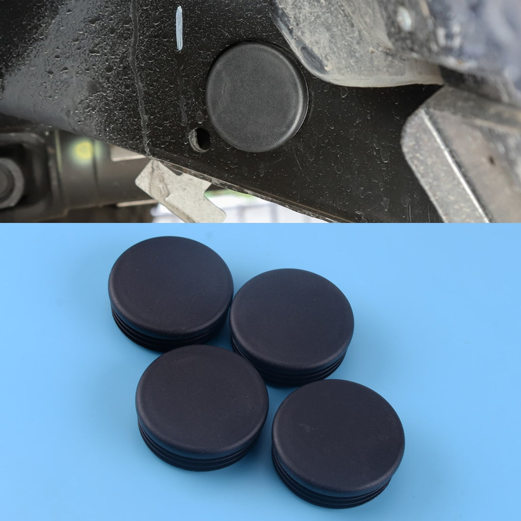 DWCX 4pcs Black Frame Hole Cover Plugs Decorative Car Girder Tube Cap Set Fit For 2018 Jeep Wrangler JL