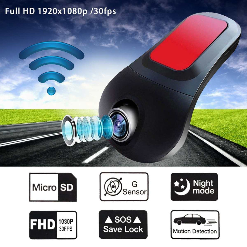 FHD 1080 WiFi Mini Car DVR Camera 170 Degree Dash Cam Camcorder Driving Video Recorder G-Sensor Dashcam Night Vision