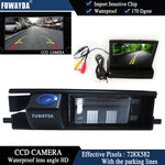 FUWAYDA Color CCD Car Chip Rear View Camera for Toyota RAV4 RAV-4  + 4.3 Inch foldable LCD TFT Monitor HD waterproof