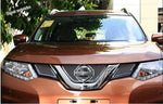 Lapetus Front Grille Grill Bezel Cover Trim 3 Pcs Accessories Exterior Fit For Nissan X-Trail / Rogue 2014 2015 2016