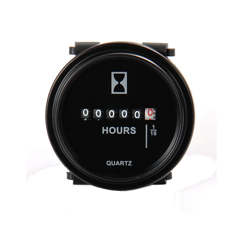 Round  Hour Meter DC 6-80V ( 12V 24V 36V 48V 72V ) for Truck Tractor Diesel Out board Diesel Engine car ATV pump tr