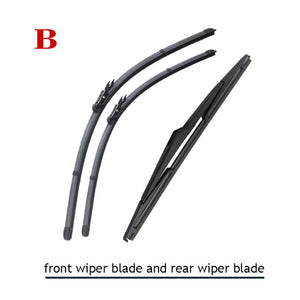 "S510 24""+15"" CAR WIPER BLADE AND 12C REAR WIPER BLADE FIT FOR 2007-2014 NISSAN QASHQAI, HIGH QUALITY WINDSCREEN WIPER - S510 12C"