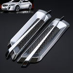 Treyues 2pcs/Set 3D Car Stickers and Decals Auto Sticker Car Vent Air Flow Fender Decorative Car- styling Waterproof 22x5.2cm