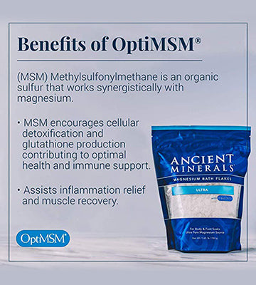Ancient Minerals Magnesium Bath Flakes Ultra with MSM