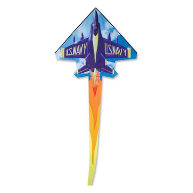 2D Jet Blue Angel Kite