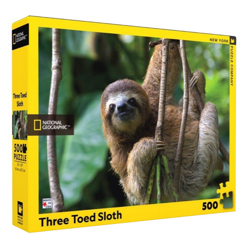 3 Toed Sloth 500-Piece Puzzle