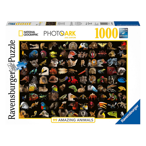 99 Stunning Animals 1000-Piece Puzzle
