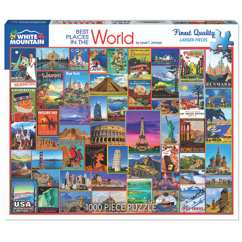 Best Places in the World 1000-Piece Puzzle