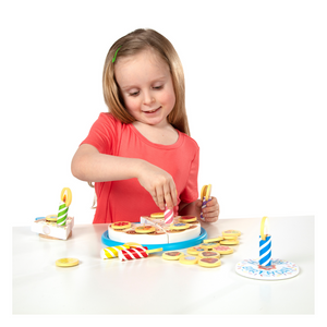 Child playing with Birthday Cake Play Set