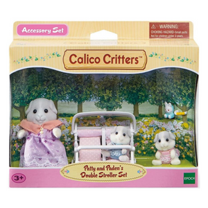 Calico Critters Patty and Paden's Double Stroller