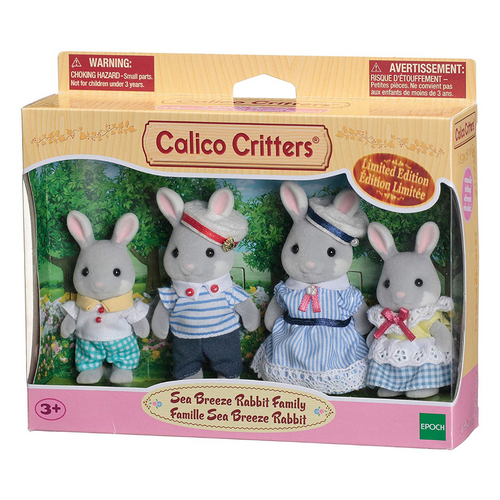 Calico Critters Sea Breeze Rabbit Family