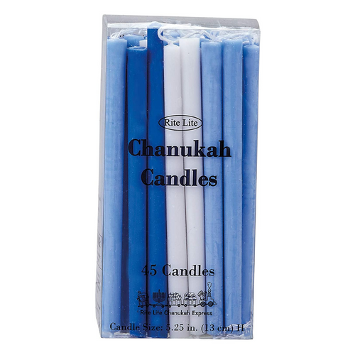 Chanukah Candles - Blue/White