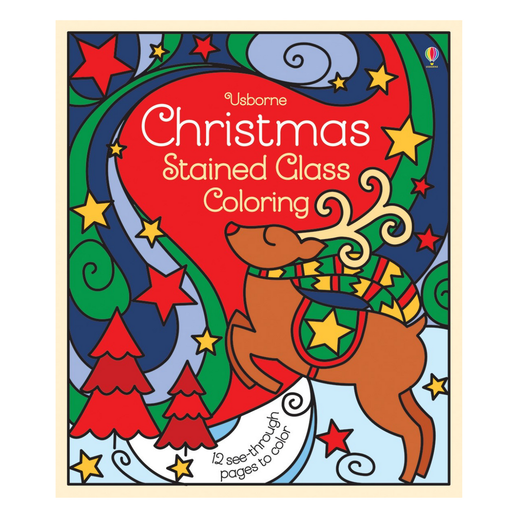 Christmas Stained Glass Coloring