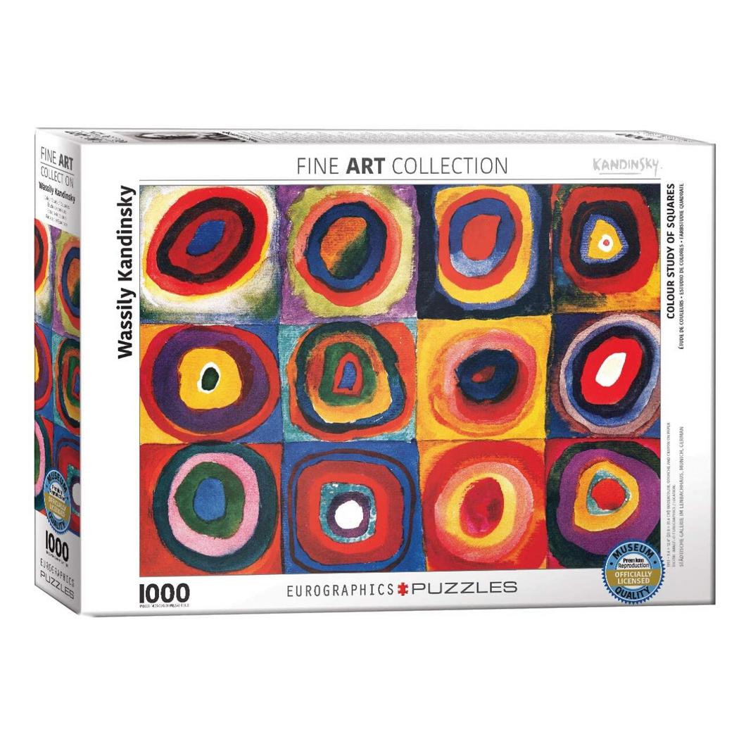 Color Study of Squares and Circles 1000-Piece Puzzle