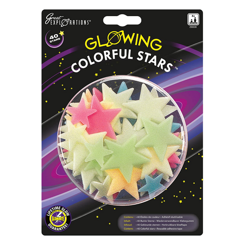 Colorful Glow Stars