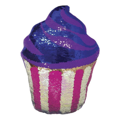 Cupcake Reversible Sequin Pillow