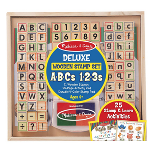 Deluxe Wooden Stamp Set - ABCs & 123s