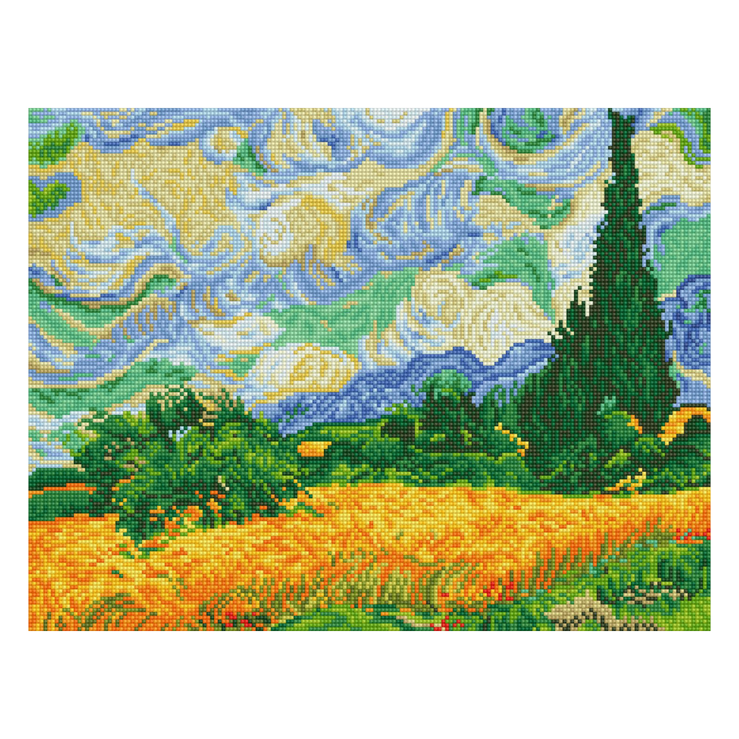Diamond Dotz - Wheat Fields Van Gogh