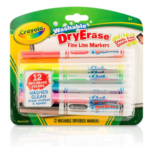 Load image into Gallery viewer, Washable Dry Erase Markers Fine Line 12 Count