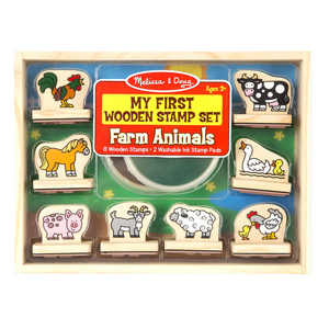 First Wooden Stamp Set - Farm Animals