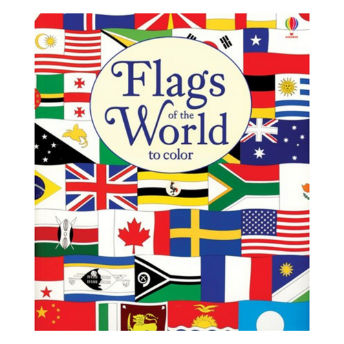 Flags of the World to Color - coloring book cover