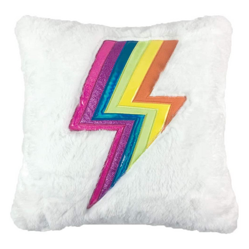 Furry Lightning Pillow