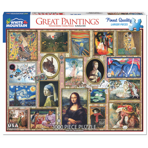 Great Paintings 1000-Piece Puzzle