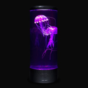 Jellyfish mood lamp with purple lights