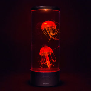 Jellyfish mood lamp with red lights