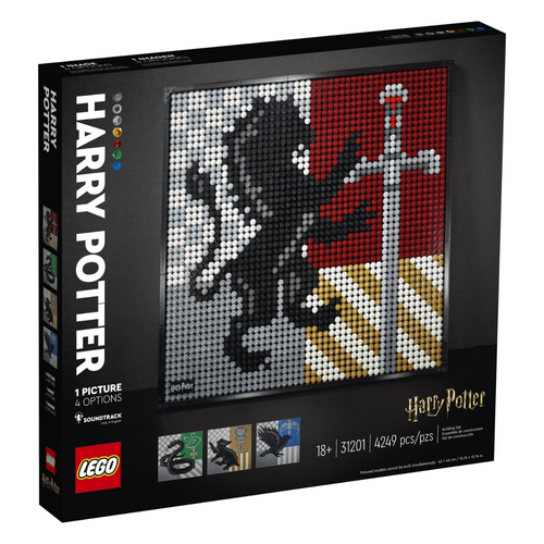 LEGO Art Harry Potter Hogwarts Crests