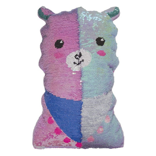 Llama Reversible Sequin Pillow