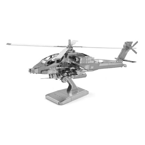 AH-64 Apache Helicopter Metal Model Kit