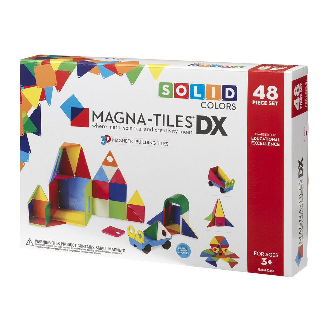 Magna-Tiles 48-Piece Solid Colors
