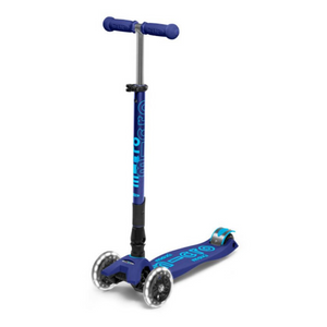 Micro LED Foldable Navy Blue Scooter