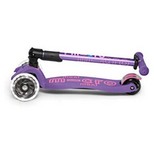 Load image into Gallery viewer, Micro LED Foldable Purple Scooter