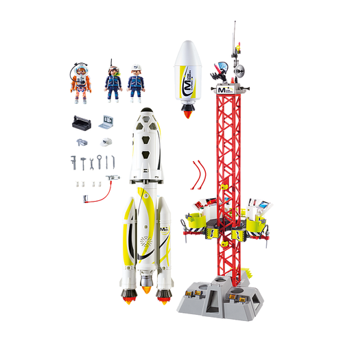 Playmobil Mission Rocket and Launch Site pieces