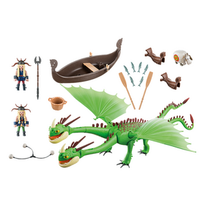 Playmobil Ruffnut and Tuffnut with Barf and Belch