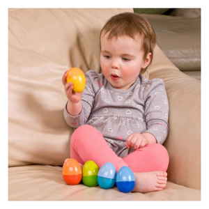 Baby playing with Shakin' Eggs