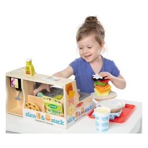 Child playing with Sandwich Counter