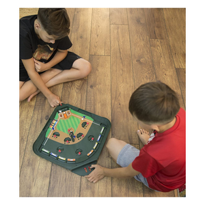 Kids playing Super Stadium Baseball Game