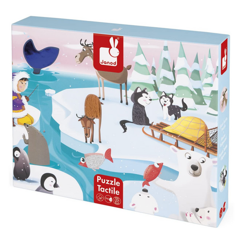 Tactile Life on the Ice 20-Piece Puzzle