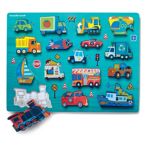 Things That Go 16-Piece Wood Puzzle