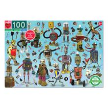 Load image into Gallery viewer, Upcycled Robots 100-Piece Puzzle