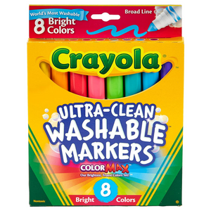 Broad Tip Washable Markers Bright