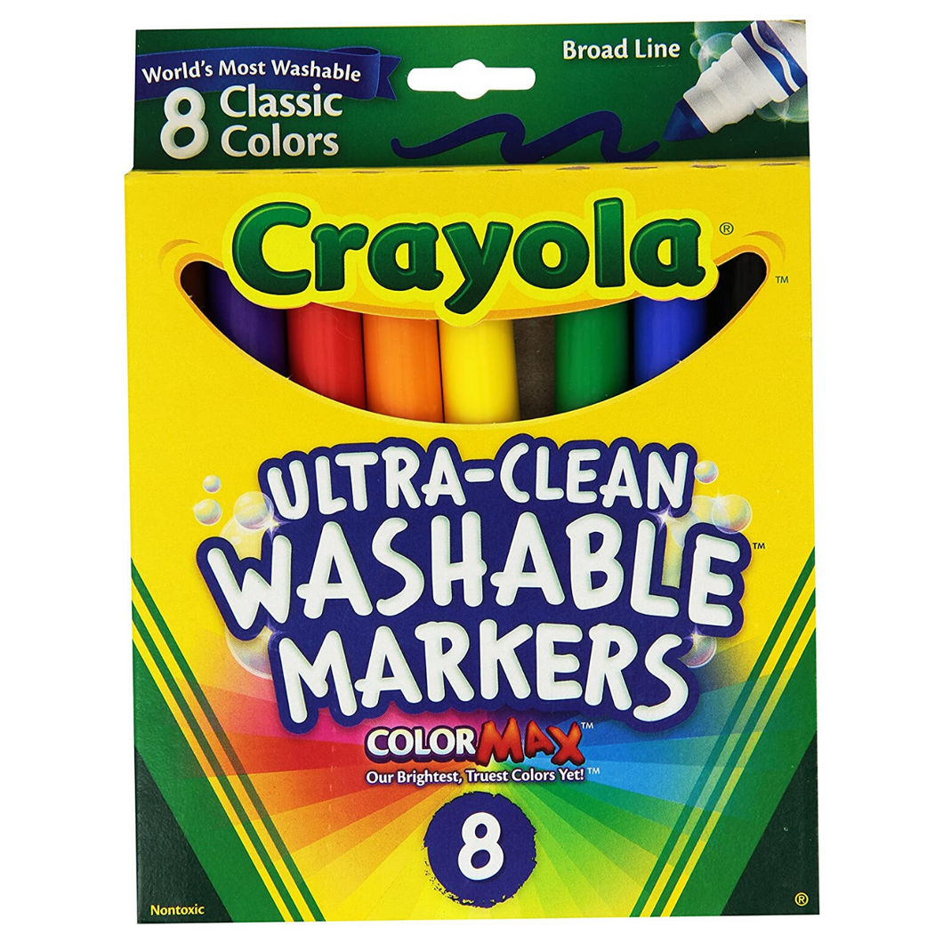 Broad Tip Washable Markers Classic