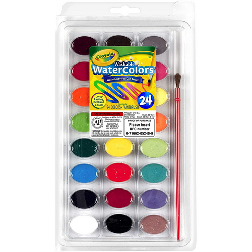Washable Watercolors 24 Cout