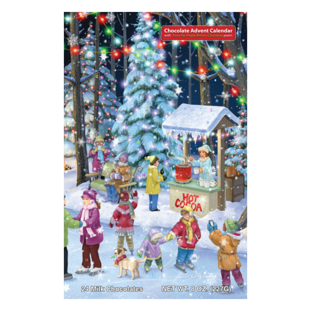 Woodland Skaters Deluxe Chocolate Advent Calendar