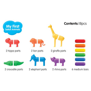 SmartMax My First Safari Animals pieces - magnetic rods, animal heads and tails