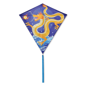 "Kite 30"" Diamond Asian Dragon"