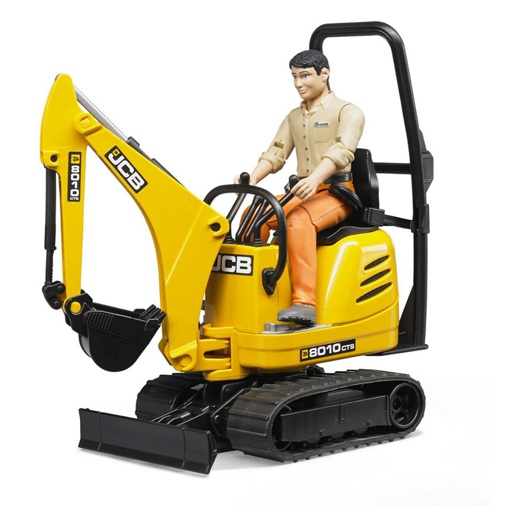 JCB Micro Excavator with Construction Worker
